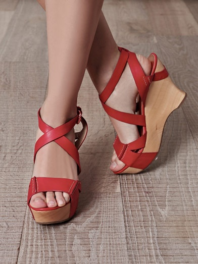 andfoot Red Wedges Heels cheap get to buy 5Z3JS