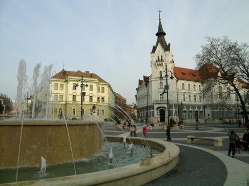 Kaposvar Square, Hungary - Loved that square