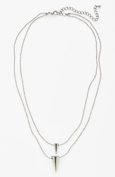 Free shipping and returns on JULES SMITH Double Spike Necklace at Nordstrom.com. Double spike pendants dangle from double silvery chains for an edgy statement necklace with (you guessed it) double the style.