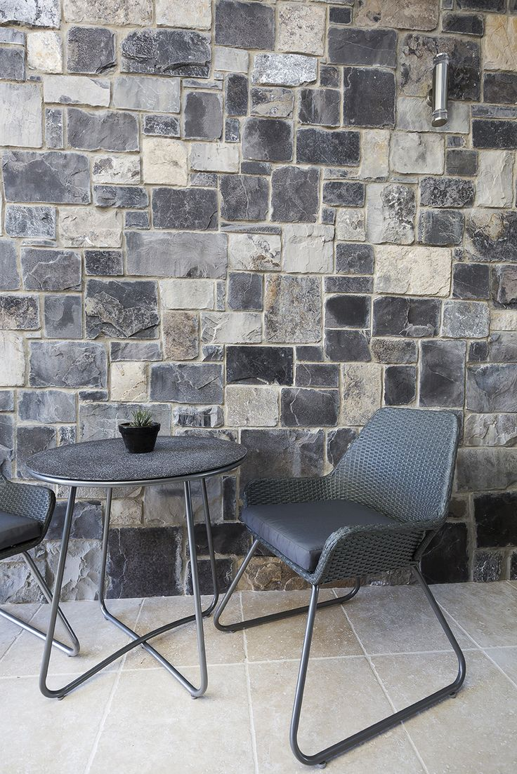 Ruby Loose Wall Cladding is random sized Limestone pieces. They are charcoal and beige contast tones which makes this cladding special.  A sawn back corners ensure time adequate installation without compromise in appearance.   http://www.armstone.com.au/products/wall-cladding/