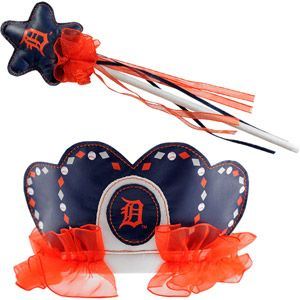 MLB Detroit Tigers Princess Tiara and Wand Set