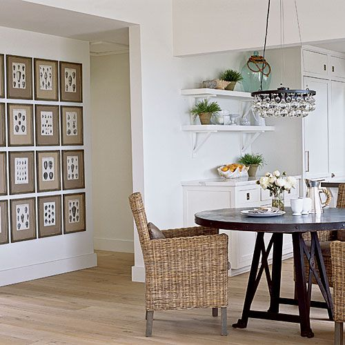 Reclaimed Hardwood | Think beyond basic hardwoods and give your floors personality. A few decorative touches will add some serious interest underfoot.