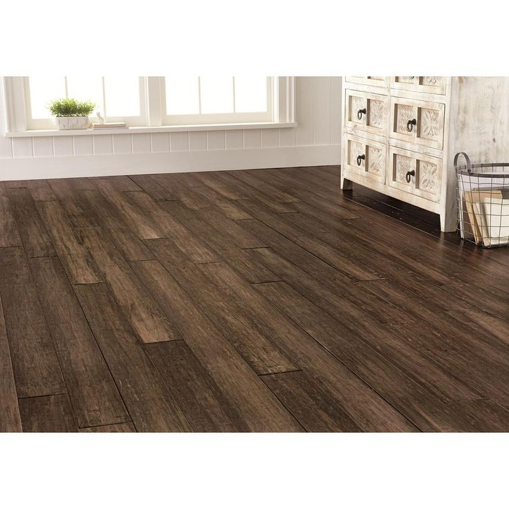 Home Decorators Collection Handscraped Strand Woven Pecan 3/8 in. T x 5-1/8 in. W x 72-7/8 in. L Click Engineered Bamboo Flooring (25.88 sqft/case)-YY3004DD - The Home Depot
