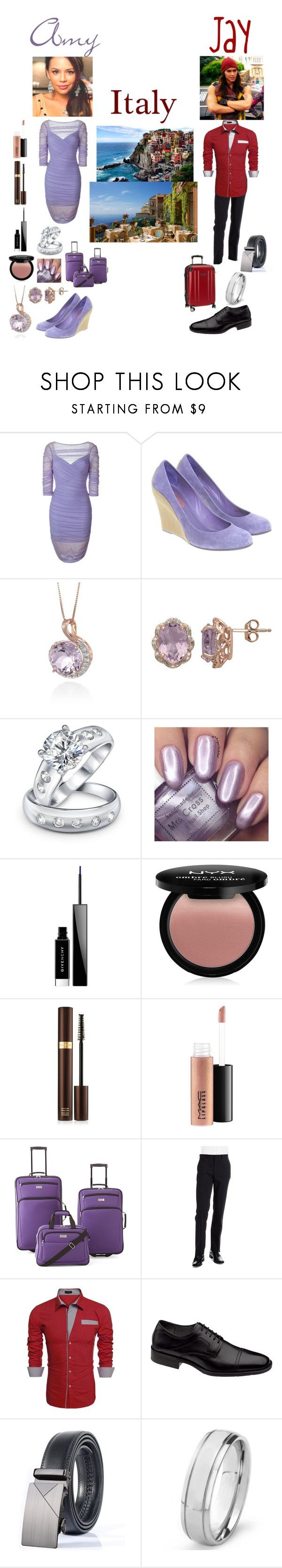 """Amy and Jay's Honeymoon"" by keih95 ❤ liked on Polyvore featuring Versace, Michael Kors, Belk & Co., Lord & Taylor, Bling Jewelry, Givenchy, NYX, Tom Ford, MAC Cosmetics and PROTOCOL"