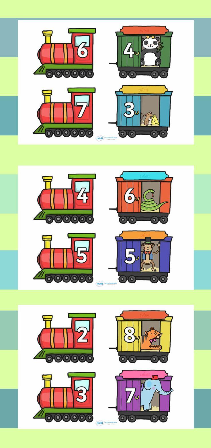 Samen 10 oefenen met trein en wagon