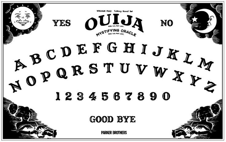 Clean image for printable ouija board template