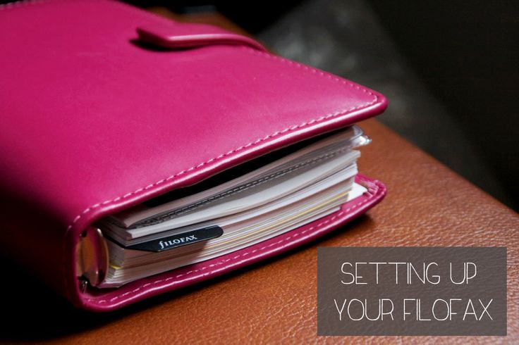 Setting Up Your Filofax | My Life as a Teacup