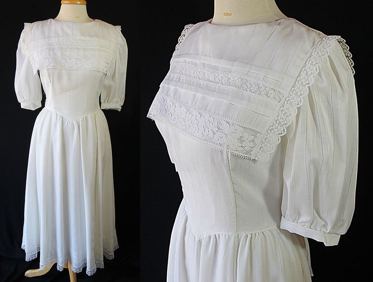 Gunne Sax Lawn Dress Victorian Edwardian School Girl White Lace by PetticoatsPlus on Etsy