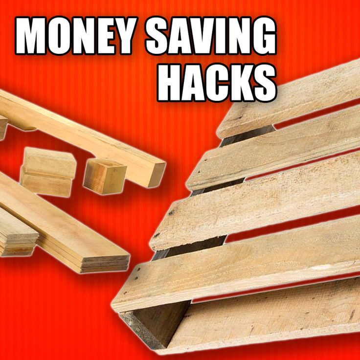 Money Saving Hacks for Woodworking: Using Reclaimed Pallet Wood! #woodworking #diy