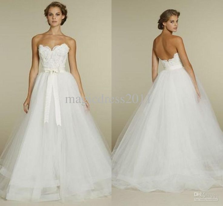 Wholesale new arrival 2013 sweetheart white tull ball gown for Www dhgate com wedding dresses