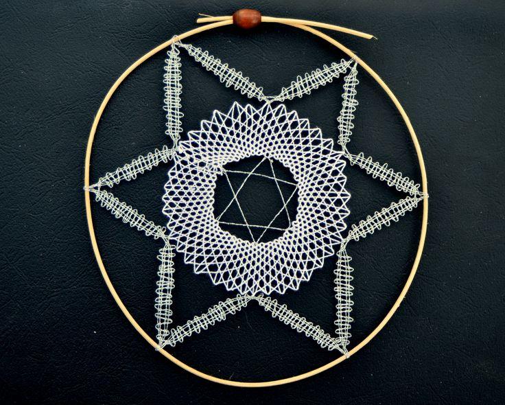 paličkovaná hvězda/ bobbin lace star