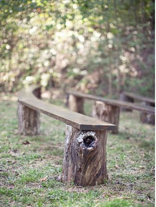 wooden bench seats for ceremony