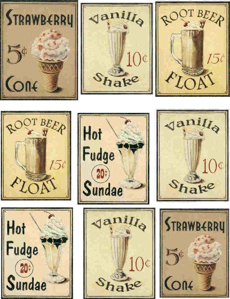 Printable Vintage labels