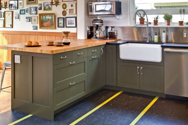 mixed countertops kitchen transitional with farmhouse sink single basin apron-