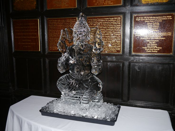Ganesh ice sculpture