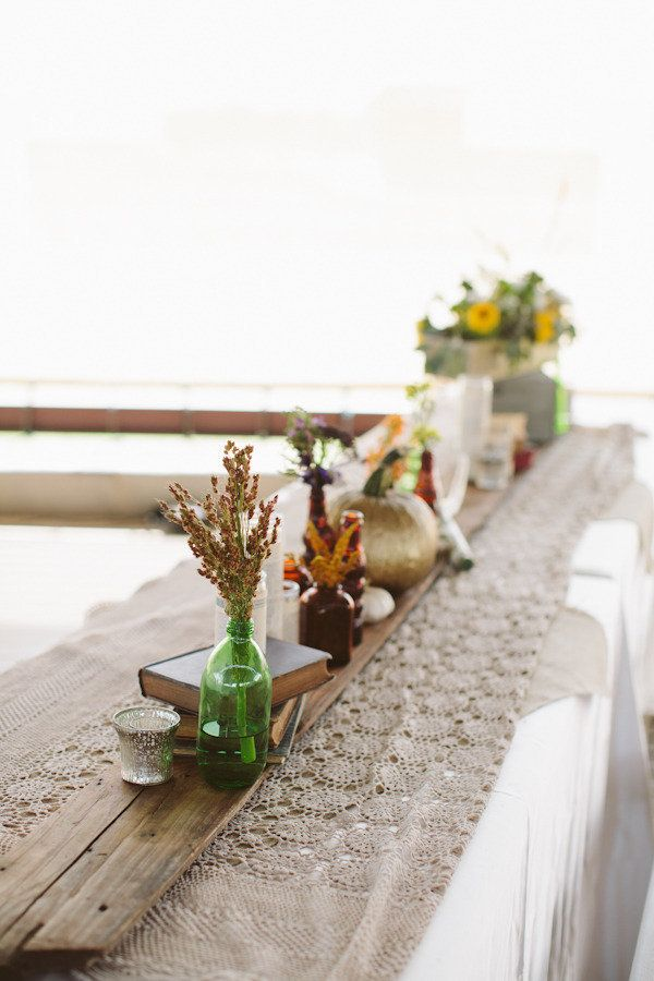 rustic, Fall-inspired tablescape