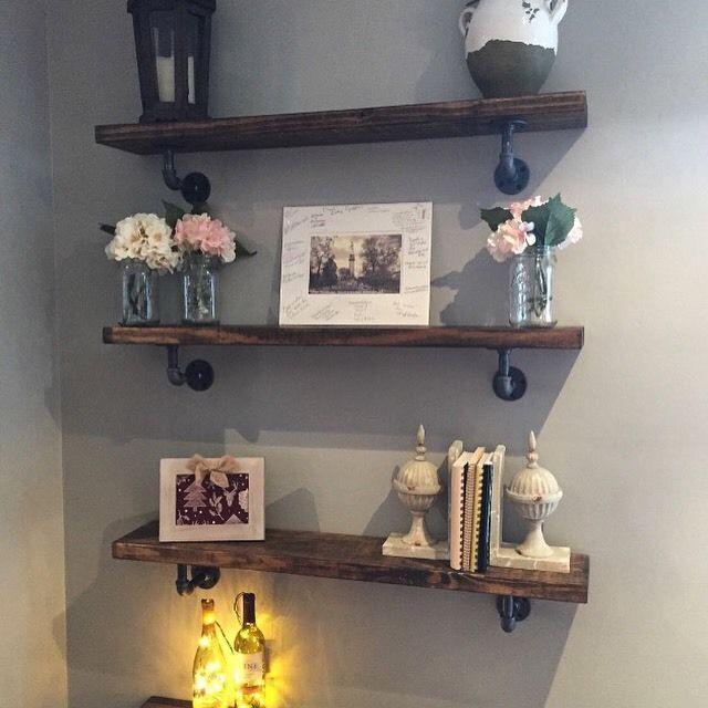 Rustic Iron Pipe Shelf    eBay
