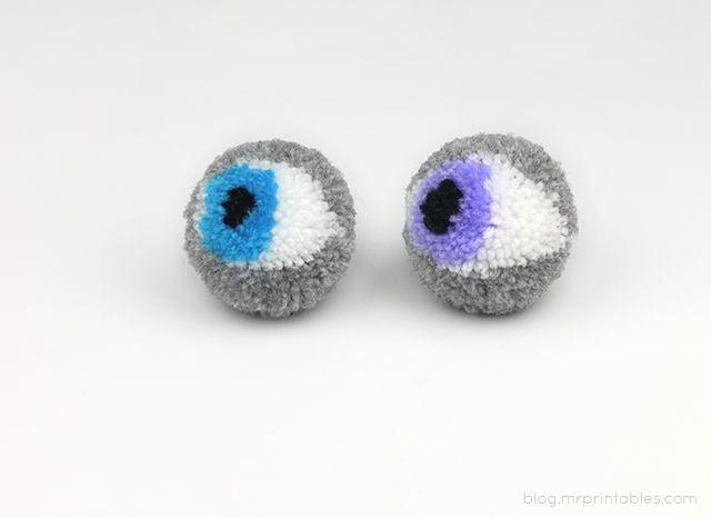 DIY: Creepy Eyeball Pom-Poms