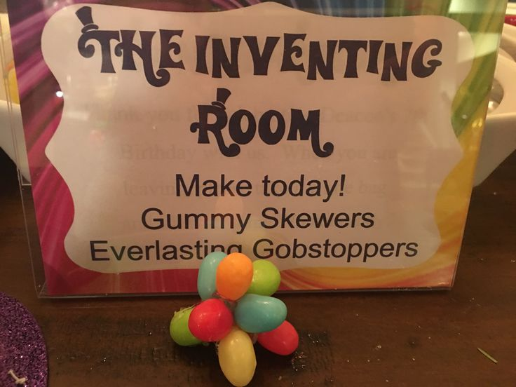 Willy Wonka Inventing Room Crafts