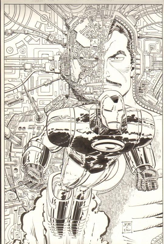 Marvel Age #119 Cover (John Romita, Jr.) (1992) Comic Art