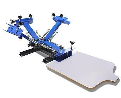 4 Colores 1 estación de pantalla de seda Imprenta Impresora hágalo usted mismo Camiseta superficie plana y