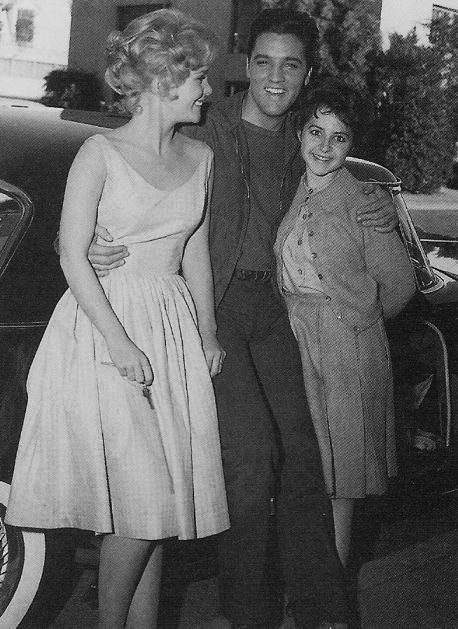 Tuesday Weld, Elvis and Brenda Lee who was invited to the set by Tom Diskin. 'Wolf', Tuesday Weld's German Shepherd can be seen far right in the car.