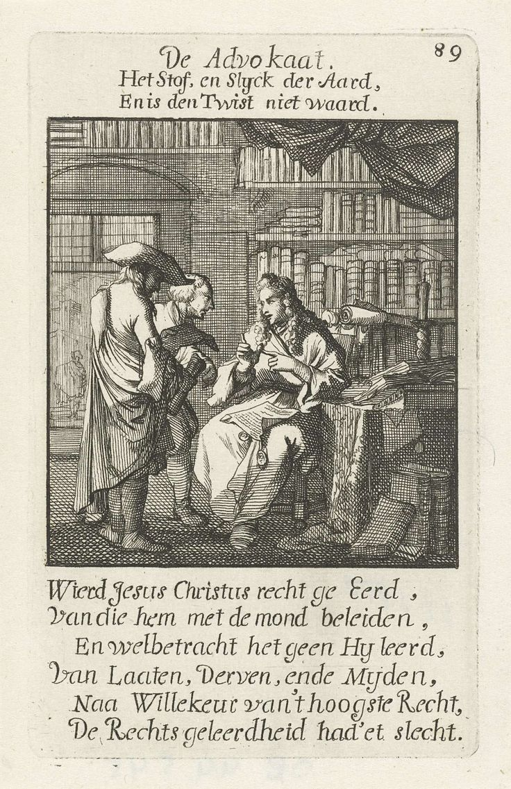 Advocaat, Caspar Luyken, Jan Luyken, Jan Luyken, 1694