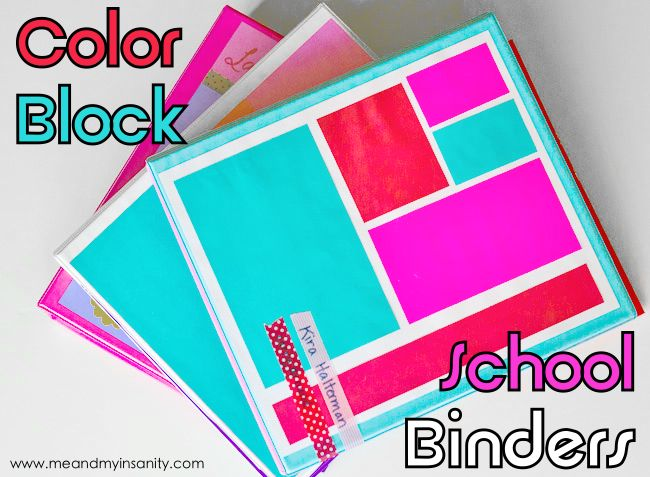 #colorblocking #neon and #backtoschool all in one post. Check out these colorblock school binders using #astrobrights paper.