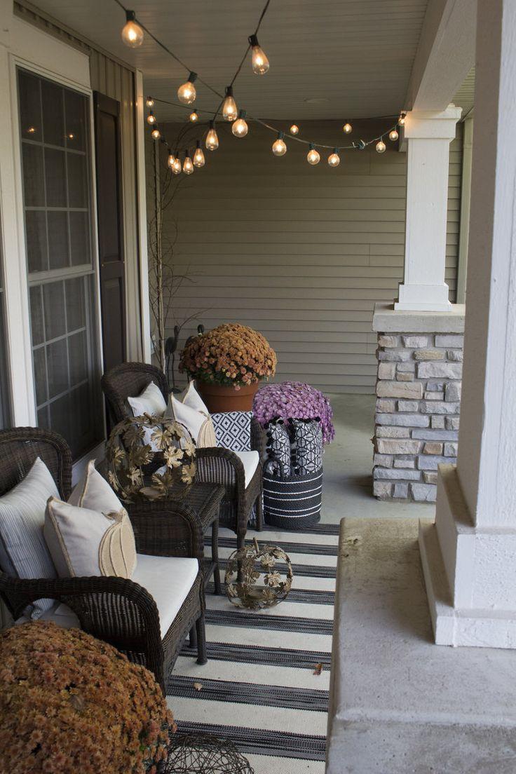 Fall Front Porch, Farah Merhi, Inspire Me! Home Decor