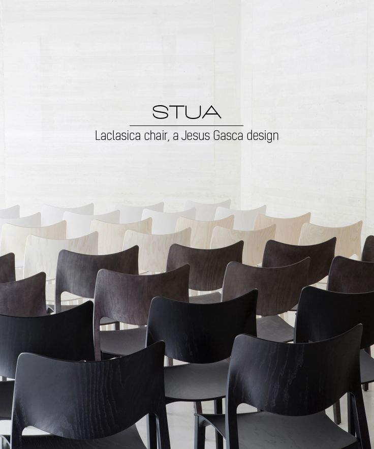 STUA Laclasica chair is considered one of the most comfortable seatings in the world, because the 3D plywood shapes mimic the human body.