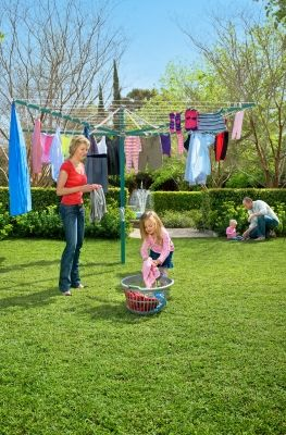 The Hills Rotary 8 Is The Largest Rotary Clothesline Available With A Total  Line Length Of