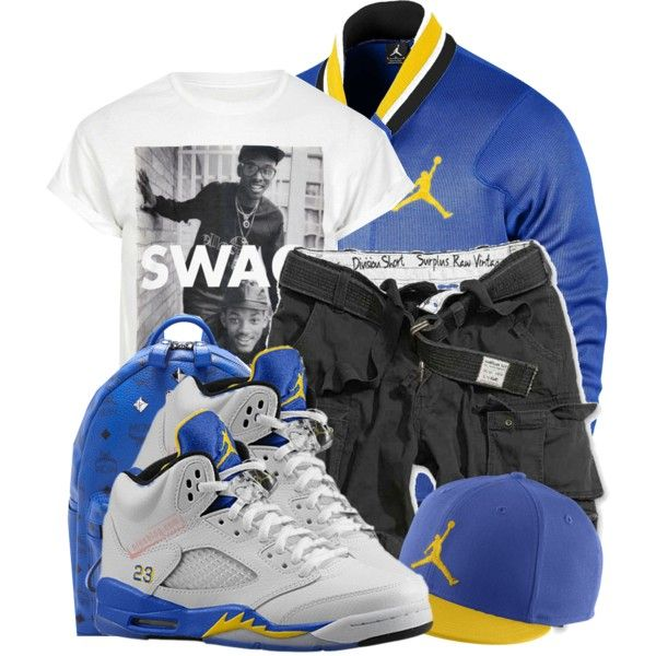 """-MCM Laney Swag ' <$"" by ayeyo-aaliyah on Polyvore cheap Air Jordan 5 LANEY only $63.9, save up to 58% off for all #Nikes #Shoes"