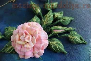Мастер-класс по мокрому валянию: Шикарное колье с розой из войлока