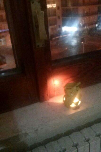 Gufo luce di candela
