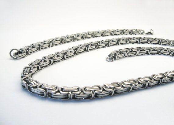 Set Königskette Armband Edelstahl 60cm Necklace von GemmaEtSaburra