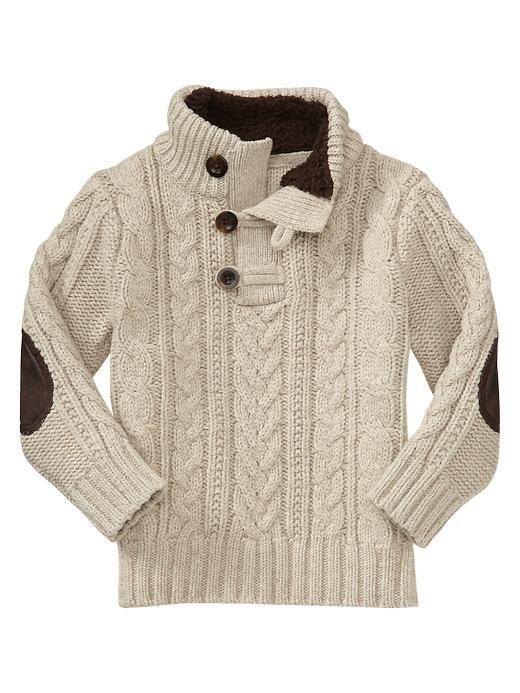 Gap | Elbow-patch mockneck sweater