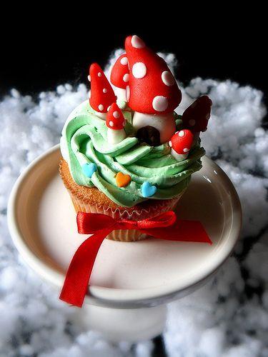 mushroom cupcake: Cupcakes Galor, Enchanted Cupcakes, Cupcakes Crazy, Mushrooms Cupcakes, Cupcakes Blog, Mushroom Cupcakes, Cupcakes Rosa-Choqu
