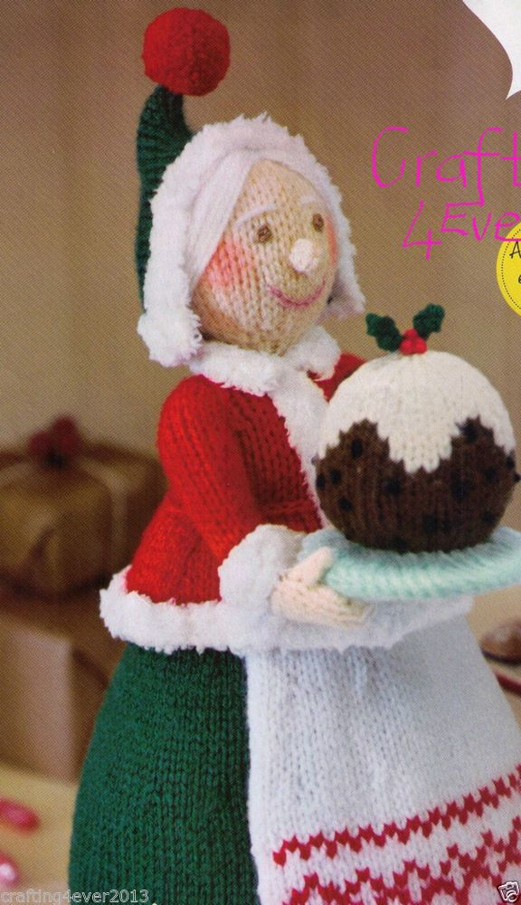 CHRISTMAS-SANTA CLAUS'S WIFE DOLL /DECORATION/ TOY- LOVELY GIFT-KNITTING PATTERN