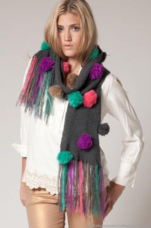 Accesorios invierno 2013 moda Agostina Bianchi