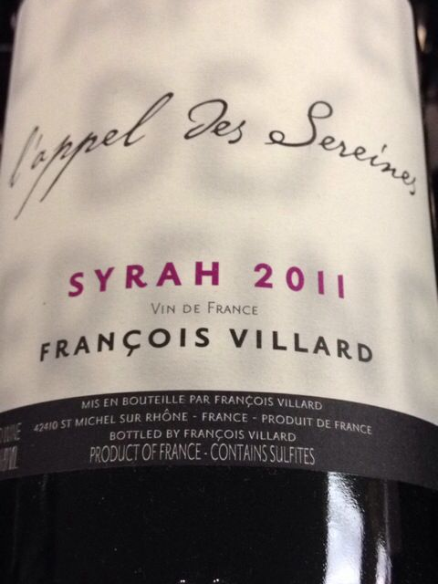 Wine Of The Day: Francois Villard L'appel Des Serein 2011 Syrah 750ml $15.99 http://www.vivino.com/s/52d7266c07f52 #wine #winery #syrah #french #rhone #franklinma