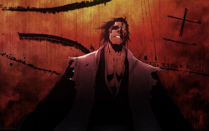 Download wallpapers Kenpachi Zaraki, 4k, manga, art, demon, Bleach