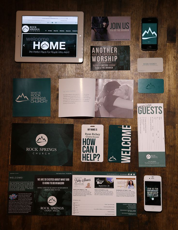 This was some of the projects related to the visual rebranding of Rock Springs Church (www.rockspringsonline.com)