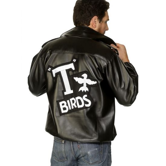 Grease jasje T-Birds uit de film Grease. Dit Grease T-Birds jasje is goed te combineren met een lichte spijkerbroek.