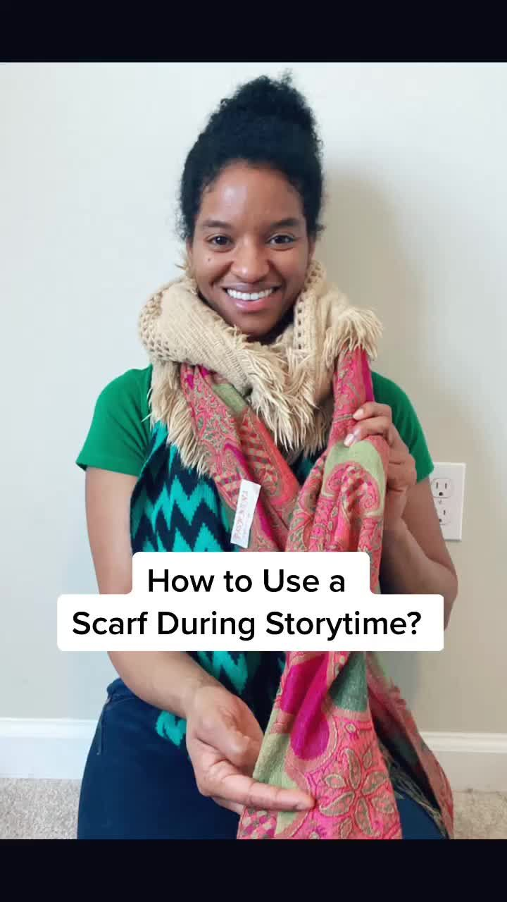 How To Use A Scarf During Storytime Crochet Scarf Scarf Cool Kids