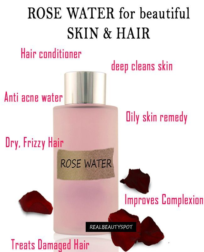 Rose Water For Beautiful Skin And Hair –Rosewater can be used in variety of ways for both skin and hair.