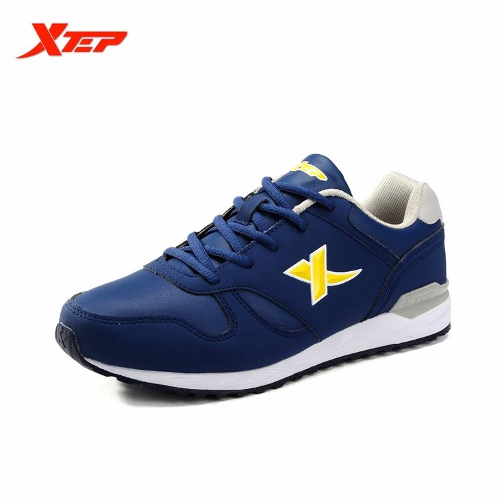 36.04$  Buy here - http://ali73e.shopchina.info/go.php?t=32655526210 - XTEP Brand Running Shoes for Men Trainers Training Shoes Athletic PU Leather Sports Shoes Men's Rubber Sneakers 985419119907 36.04$ #aliexpressideas