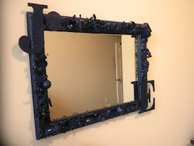My next creative outlet project: a toy box mirror.