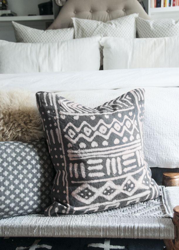 DIY - make mudcloth pillow at home   www.homeology.co.za