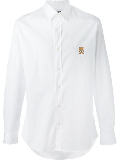 Comprar Moschino camisa con parche de oso en Elite from the world's best independent boutiques at farfetch.com. Shop 300 boutiques at one address.
