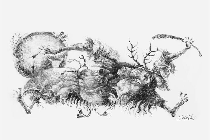 Даши Намдаков.Сибирский шаман 2 Сибирский шаман 2 Бумага, уголь